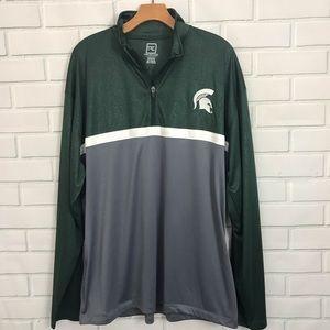 Michigan State University Spartan Half Zip Sweater